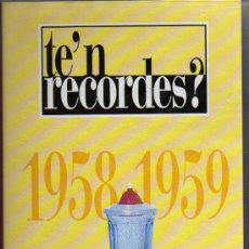 Series de TV: VHS - TE'N RECORDES? - 1958-1959 - CRÒNICA SENTIMENTAL - ALTAYA - TV3. Lote 21590398