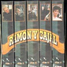 Series de TV: RAMON Y CAJAL EL TESON DEL TALENTO AISLADO SERIE DE TV 5 VOLUMENES VHS-291. Lote 25974733