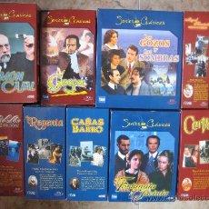 Cine: LOTE DE 9 SERIES DE TELEVISION EN VHS ,CERVANTES,GOYA,LORCA,LA REGENTA,CAÑAS Y BARRO, RAMON Y CAJAL,. Lote 34197011