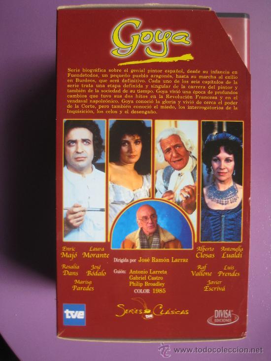 Series de TV: LOTE DE 9 SERIES DE TELEVISION EN VHS ,CERVANTES,GOYA,LORCA,LA REGENTA,CAÑAS Y BARRO, RAMON Y CAJAL, - Foto 5 - 34197011