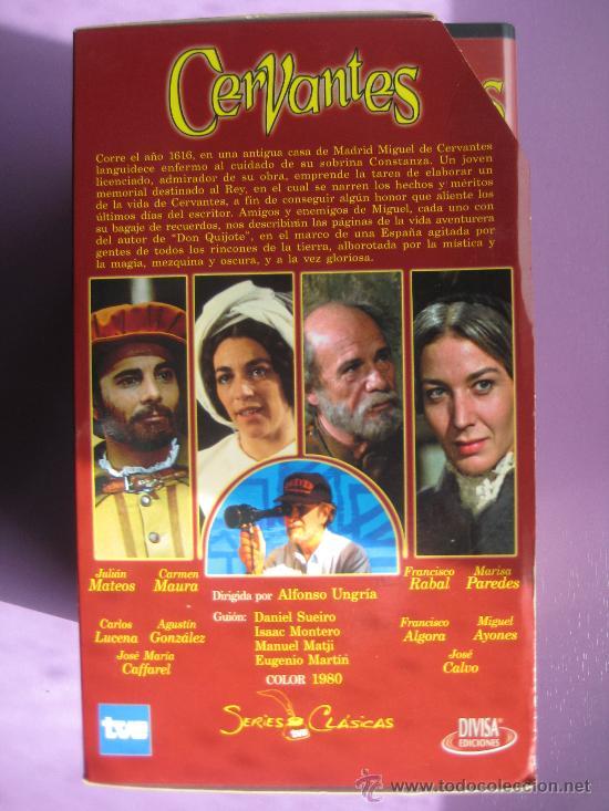Series de TV: LOTE DE 9 SERIES DE TELEVISION EN VHS ,CERVANTES,GOYA,LORCA,LA REGENTA,CAÑAS Y BARRO, RAMON Y CAJAL, - Foto 8 - 34197011