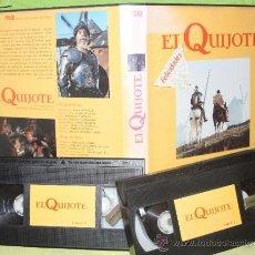 Series de TV: EL QUIJOTE: PRODUCCION DE RTVE COMPLETA EN DOS CINTAS VHS.. Lote 37608670