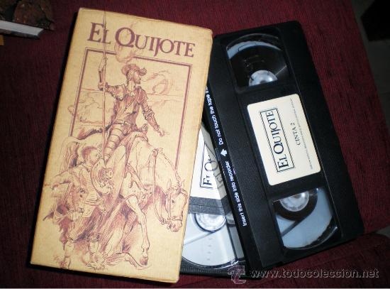 Series de TV: El Quijote-Alfredo Landa-Fernando Rey-Cela-serie tv-1992-dos cintas video VHS - Foto 2 - 38595630