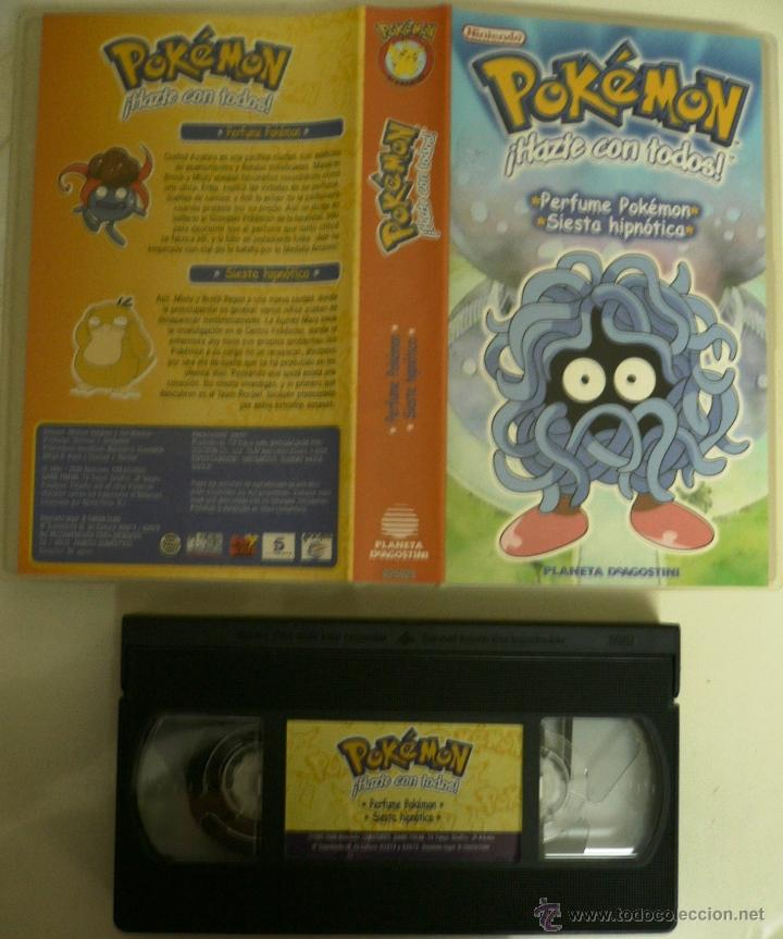 CINTA VHS POKÉMON !HAZTE CON TODOS! PERFUME POKÉMON / SIESTA HIPNÓTICA (Series TV en VHS )