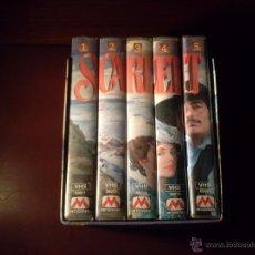 Cine: VHS SCARLETT 5 CINTAS 8 HORAS. Lote 48344479