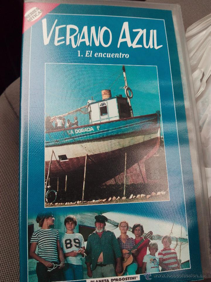 VHS VERANO AZUL PORTADA CON LOS PROTAGONISTAS DE LA SERIE (Series TV en VHS )