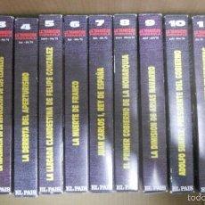 Series de TV: LOTE DE 13 CINTAS VHS SERIE COMPLETA TV LA TRANSICIÓN ESPAÑOLA. Lote 217873905