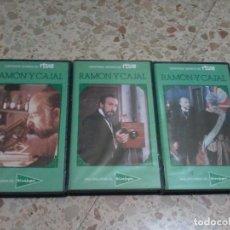 Cine: RAMÓN Y CAJAL SERIE DE TELEVISIÓN BIOGRAFÍA FERNÁN-GÓMEZ MARSILLACH VHS TVE EDICION CORTE INGLES. Lote 64732483