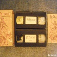 Cine: EL QUIJOTE PRODUCCIÓN DE RTVE COMPLETA (EN DOS CINTAS VHS). Lote 69800561