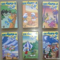 Séries de TV: VHS LOS PITUFOS: SERIE DE DIBUJOS ANIMADOS; LOTE DE 6 CINTAS VHS. Lote 85139236