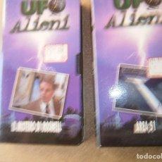 Series de TV: UFO ALIENI NUMERO 1 Y 2 LA CINTA 2 TIENE EL CANTO ROTO COMO SE VE EN LA FOTO. Lote 86739164