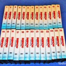 Cine: ÉRASE UNA VEZ EL HOMBRE (26 VHS - COLECCIÓN COMPLETA) - EDITORIAL PLANETA AGOSTINI- EXCELENTE ESTADO. Lote 86977304