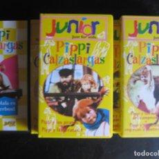 Cine: LOTE 5 VHS PIPPI CALZASLARGAS EPISODIOS 1 14 15 16 17 18 19 20 Y 21 PIPI MUY BUEN ESTADO. Lote 93918590