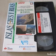 Series de TV: VHS VIDEO LO MAS NATURAL DE ESPAÑA NATURALEZA Y MEDIO AMBIENTE VOLUMEN 8 ISLAS CIES Y RIAS. Lote 94296470