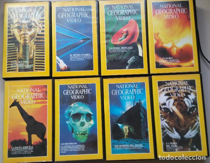 OCHO PRIMERAS CINTAS NATIONAL GEOGRAPHIC EN VHS ( DEL 1 A LAS 8 ) (Series TV en VHS )