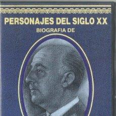 Series de TV: PERSONAJES DEL SIGLO XX: FRANCISCO FRANCO VHS. Lote 99132739