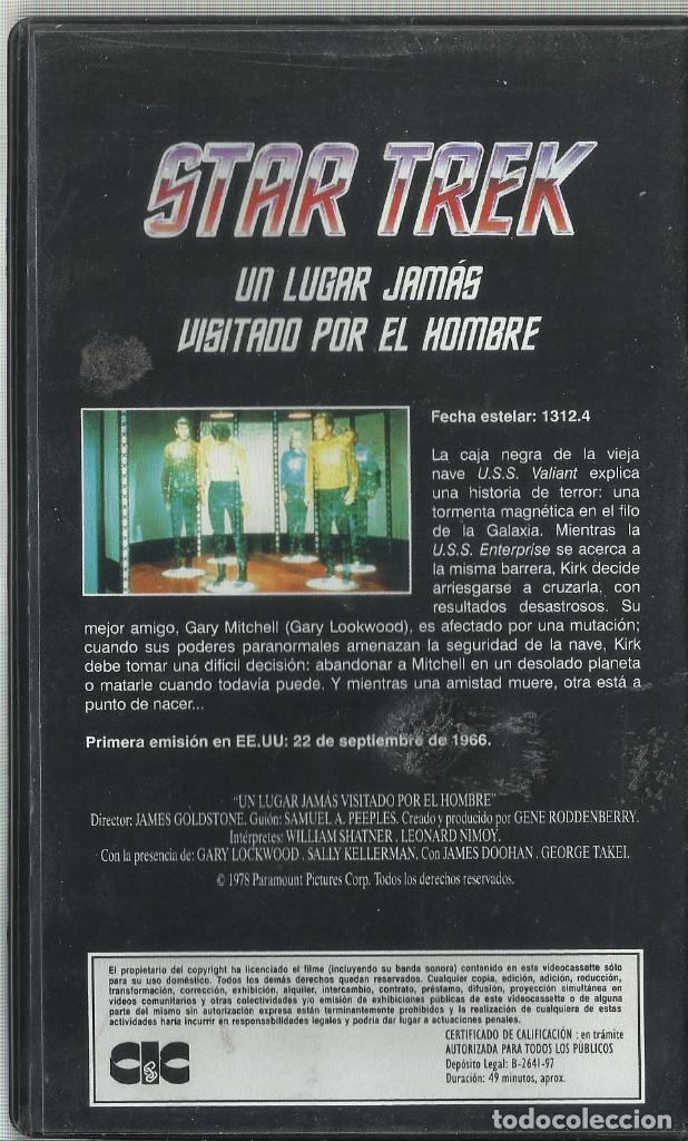 Series de TV: Un lugar jamás visitado por el hombre (Star Trek: La serie original) VHS - Foto 2 - 99911895