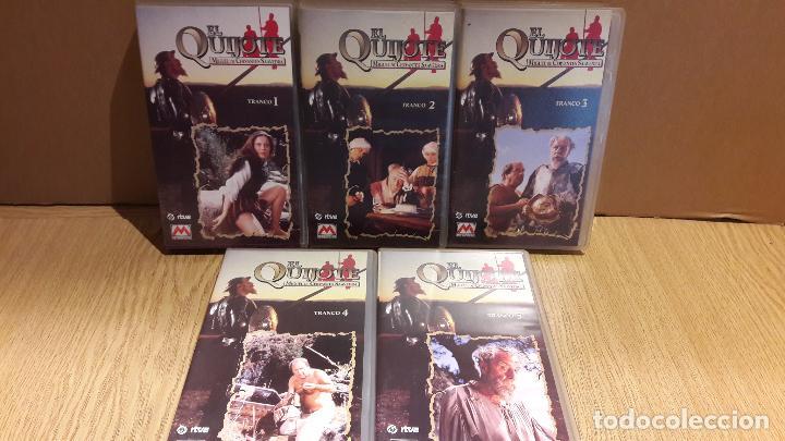 VHS !! EL QUIJOTE. MIGUEL DE CERVANTES. SERIE DE TV COMPUESTA POR 5 VHS. COMPLETA. (Series TV en VHS )