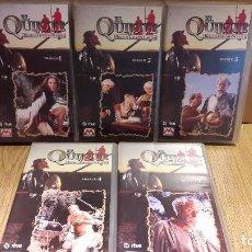 Cine: VHS !! EL QUIJOTE. MIGUEL DE CERVANTES. SERIE DE TV COMPUESTA POR 5 VHS. COMPLETA.. Lote 103073791