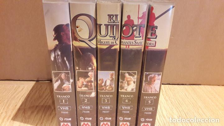 Series de TV: VHS !! EL QUIJOTE. MIGUEL DE CERVANTES. SERIE DE TV COMPUESTA POR 5 VHS. COMPLETA. - Foto 2 - 103073791