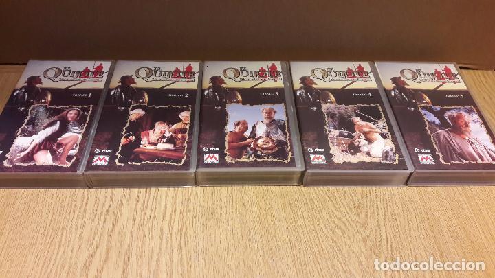 Series de TV: VHS !! EL QUIJOTE. MIGUEL DE CERVANTES. SERIE DE TV COMPUESTA POR 5 VHS. COMPLETA. - Foto 3 - 103073791