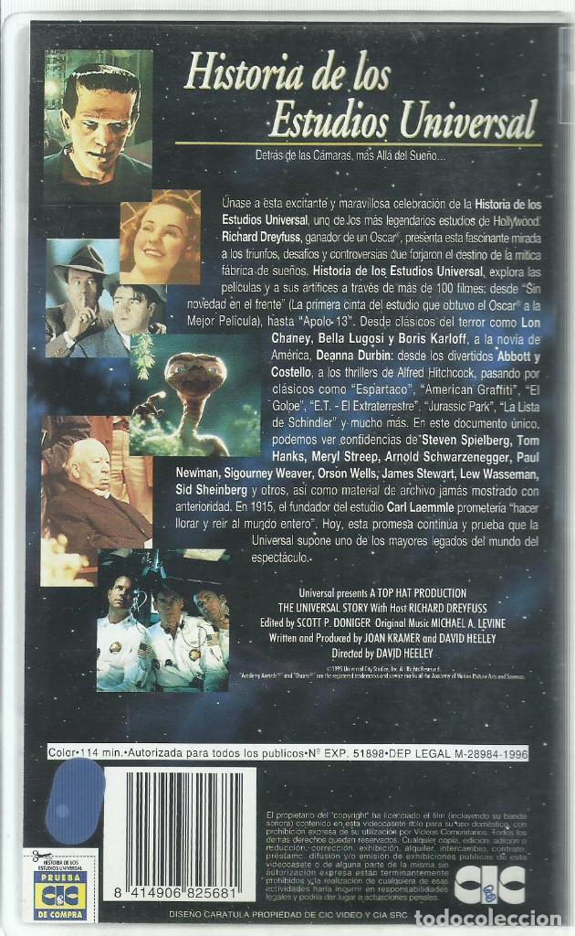 Series de TV: HISTORIA DE LOS ESTUDIOS UNIVERSAL VHS - Foto 2 - 103910323