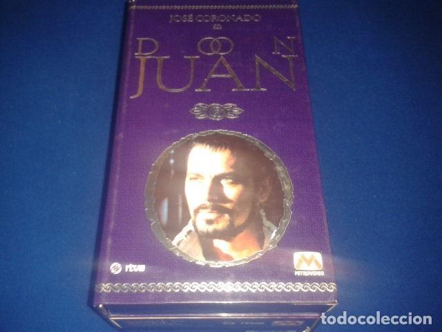 DON JUAN POR JOSE CORONADO 1998 RTVE DURACION TOTAL APROX: 180 MIN EN 3 PELICULAS VHS (Series TV en VHS )
