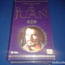 Series de TV: DON JUAN POR JOSE CORONADO 1998 RTVE DURACION TOTAL APROX: 180 MIN EN 3 PELICULAS VHS. Lote 106618195