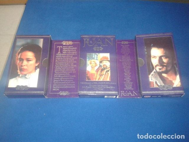 Series de TV: DON JUAN POR JOSE CORONADO 1998 RTVE DURACION TOTAL APROX: 180 MIN EN 3 PELICULAS VHS - Foto 3 - 106618195