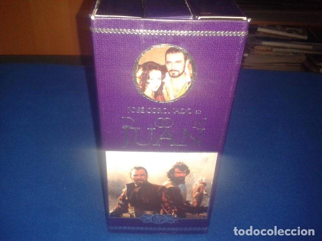 Series de TV: DON JUAN POR JOSE CORONADO 1998 RTVE DURACION TOTAL APROX: 180 MIN EN 3 PELICULAS VHS - Foto 5 - 106618195
