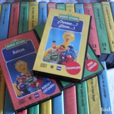 Cine: BARRIO SESAMO.VHS.COLECCION COMPLETA.RBA.TVE.EPI.BLAS.ELMO.INFANTIL.EDUCATIVO.CINE.PELICULAS.NIÑOS. Lote 106913471