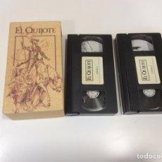 Series de TV: VHS - EL QUIJOTE PRODUCCIÓN DE RTVE COMPLETA DOS CINTAS VHS. Lote 107384715