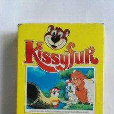 Series de TV: KISSYFUR UN DELICIOSO VIDEO DE DIBUJOS ANIMADOS CON LAS AVENTURAS DEL OSITO RARO VHS. Lote 110423310