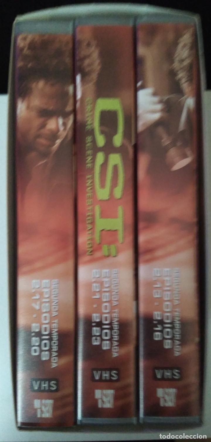 Series de TV: CSI - SEGUNDA TEMPORADA - EPISODIOS 13 A 23 - 3 CINTAS VHS - Foto 3 - 111670335