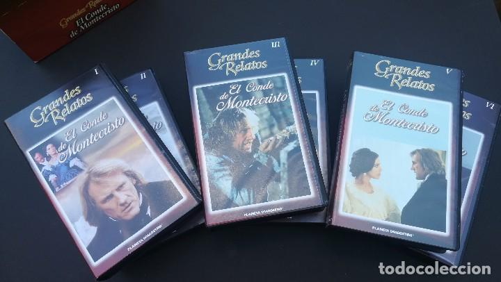 PACK 6 VHS EL CONDE DE MONTECRISTO SERIE COMPLETA GRANDES RELATOS (Series TV en VHS )