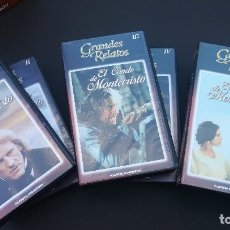 Series de TV: PACK 6 VHS EL CONDE DE MONTECRISTO SERIE COMPLETA GRANDES RELATOS. Lote 114180199