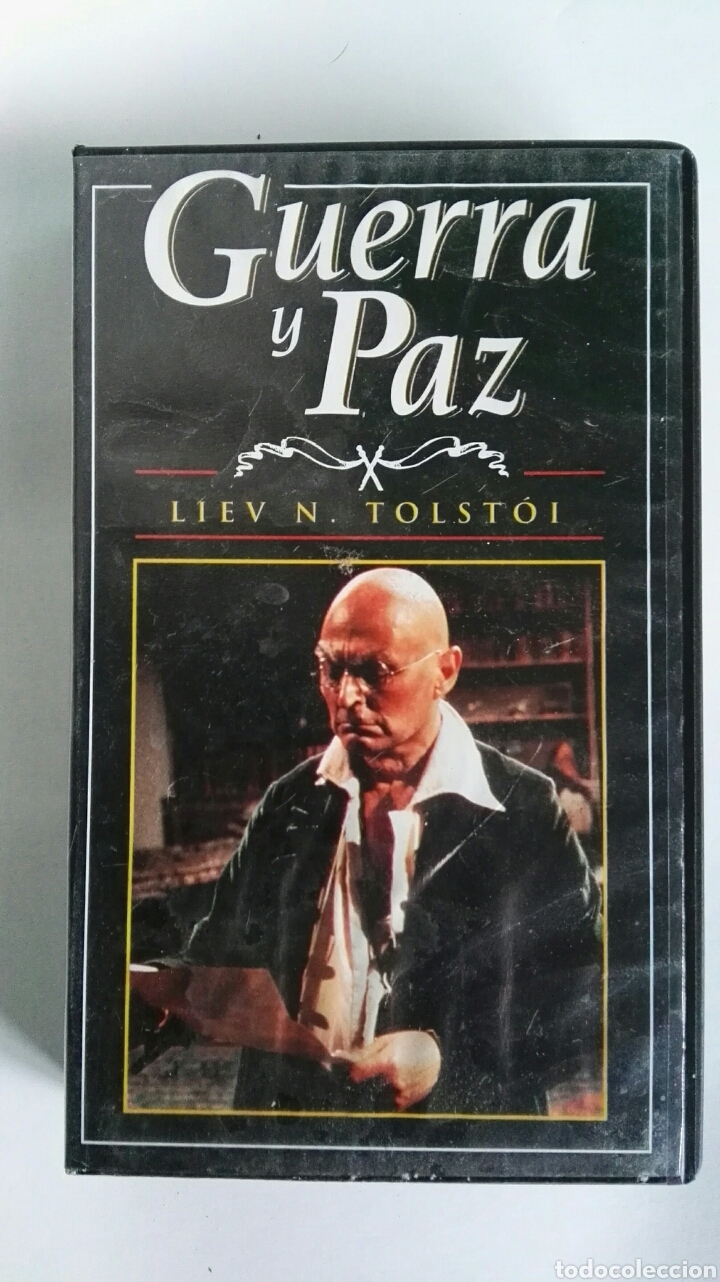 GUERRA Y PAZ N° 8 LIEV N. TOLSTOI ANTHONY HOPKINS 1998 VHS (Series TV en VHS )