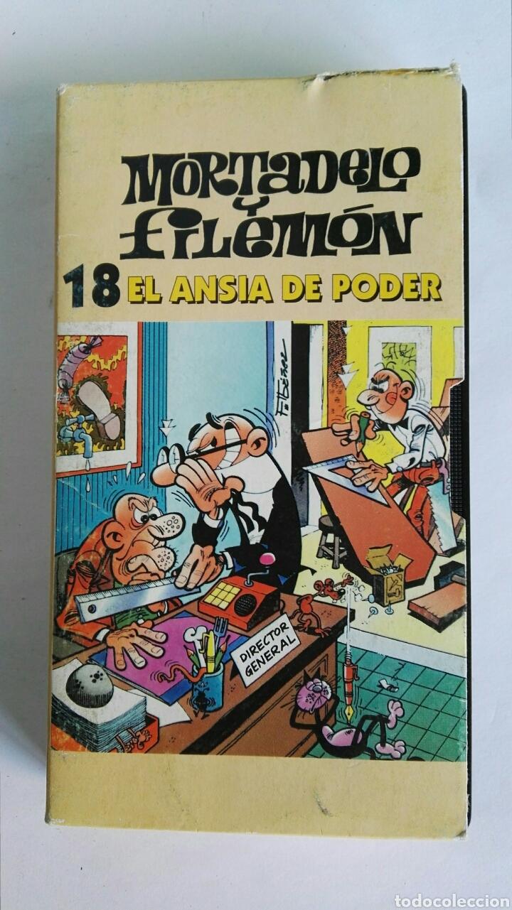 MORTADELO Y FILEMÓN N° 18 EL ANSIA DE PODER VHS (Series TV en VHS )
