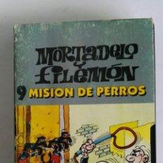 Series de TV: MORTADELO Y FILEMÓN N° 9 MISIÓN DE PERROS VHS. Lote 116405154