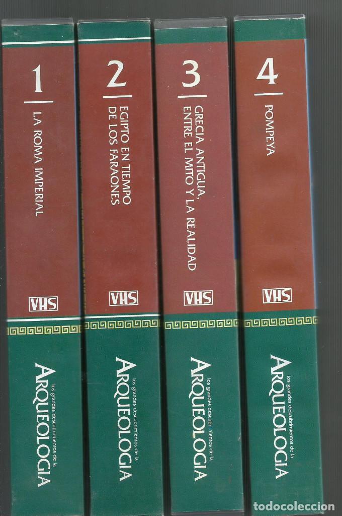 LOS GRANDES DESCUBRIMIENTOS DE LA ARQUEOLOGIA PRESENTADO POR OMAR SHARIF (Series TV en VHS )