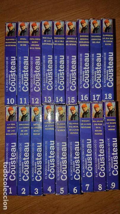 Series de TV: El mundo desconocido de Jacques Cousteau en VHS, 18 cintas - Foto 2 - 124273051