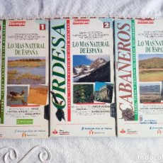 Series de TV: LOTE 3 VHS - LO MÁS NATURAL DE ESPAÑA - DOCUMENTAL NATURALEZA REVISTA TIEMPO. Lote 126730247