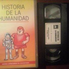 """Series de TV: LOTE 6 VHS """"ÉRASE UNA VEZ EL HOMBRE """" // INFANTIL / JUVENIL / DIBUJOS ANIMADOS / VINTAGE / HISTORIA. Lote 130514494"""
