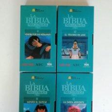 Series de TV: LA BIBLIA PARA LA FAMILIA: VOLÚMENES 9,10,11,12. Lote 132260334