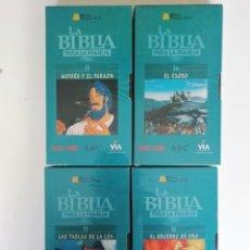 Series de TV: LA BIBLIA PARA LA FAMILIA: VOLÚMENES 13, 14, 15 Y 16. Lote 132866262