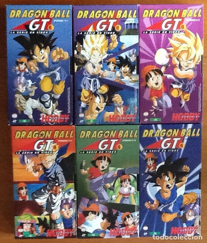 DRAGÓN BALL GT. VHS. SEIS CINTAS, SERIE EN VIDEO EDITADA HOBBY CONSOLAS. MUY BUEN ESTADO (Series TV en VHS )