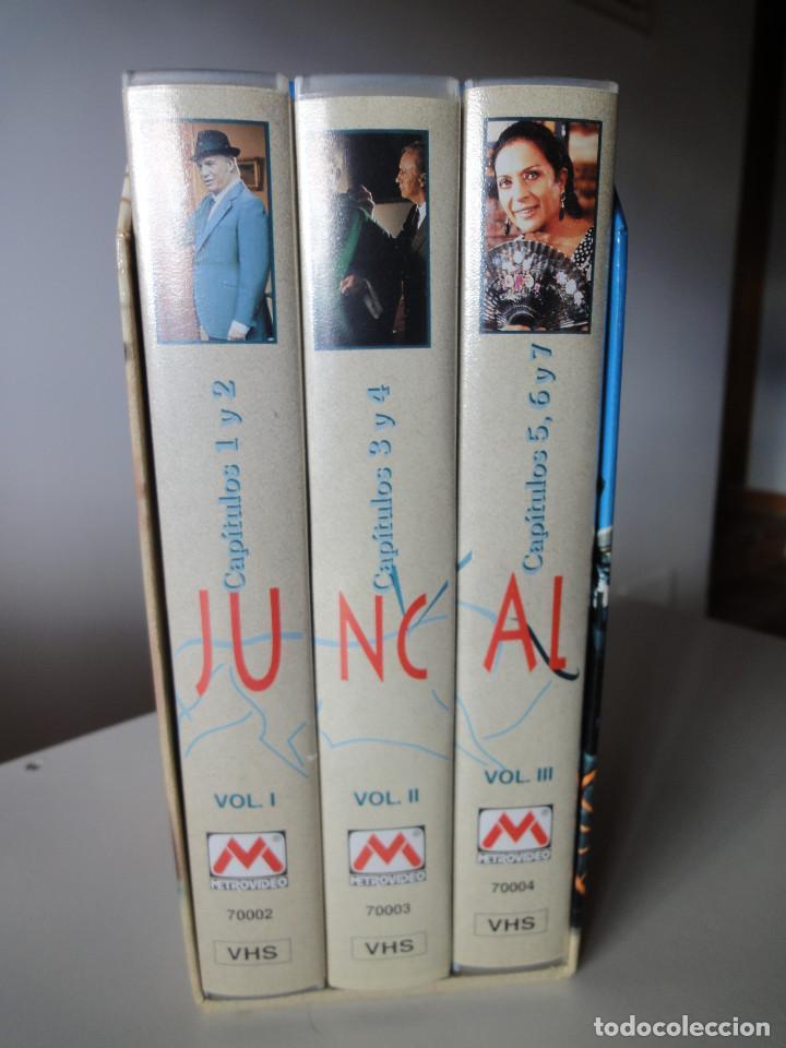 VHS. GRANDES SERIES DE TVE. JUNCAL (SERVA FILMS PARA RTVE, 1994) (Series TV en VHS )