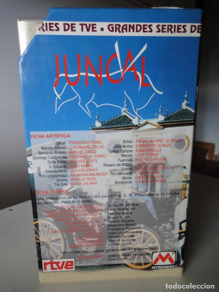 Series de TV: VHS. Grandes series de TVE. Juncal (Serva Films para RTVE, 1994) - Foto 4 - 149627010
