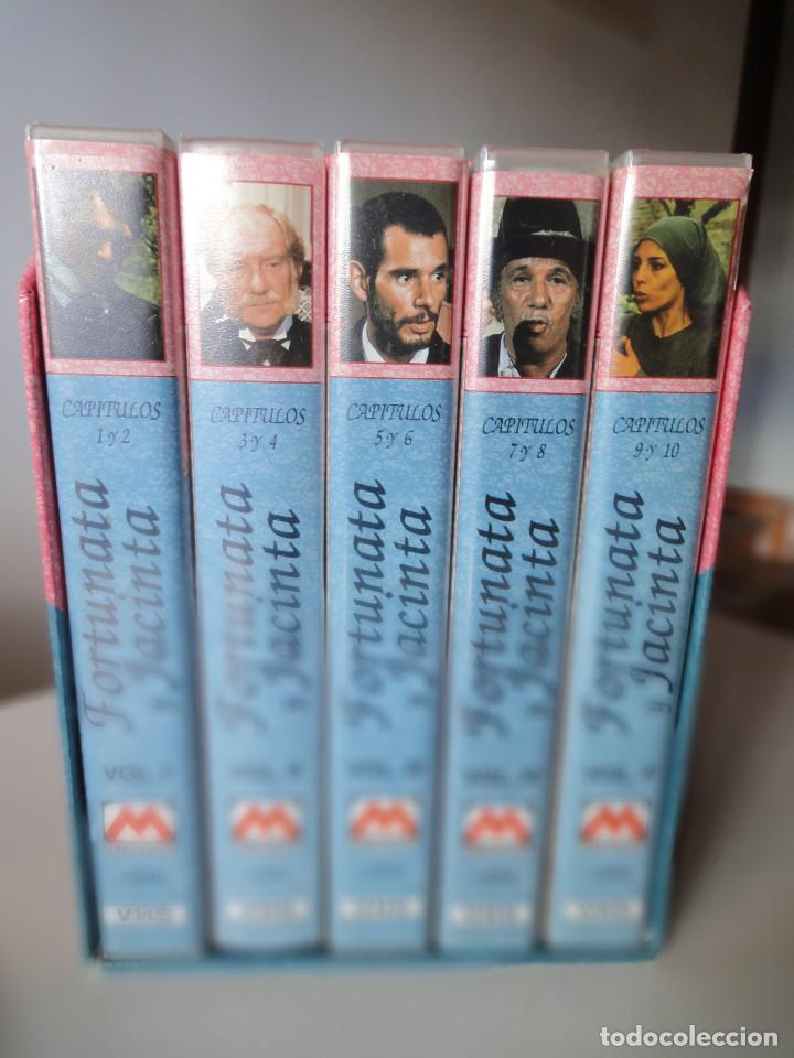 VHS. GRANDES SERIES DE TVE. FORTUNATA Y JACINTA (METROVIDEO, 1994) (Series TV en VHS )