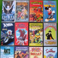 Series de TV: LOTE 12 PELICULAS VHS - DIBUJOS ANIMADOS. ANTZ, BATMN, TORTUGAS NINJA, MICKEY, LOS SIMPSON. Lote 154923290